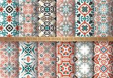 Kleurrijke Arabesque-Patronen Stock Foto
