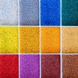 Kleurrijke architectensteekproef van kleurenstenen Stock Afbeelding