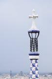 Kleurrijke architectuur door Antonio Gaudi. Stock Fotografie