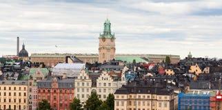 Kleurrijke architectuur van Stockholm Royalty-vrije Stock Fotografie