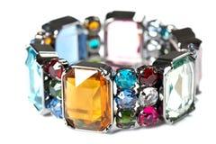 Kleurrijke armband op witte achtergrond Stock Foto's