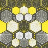 Kleurrijke Art Deco-patroonreeks, naadloos vectorart. stock illustratie