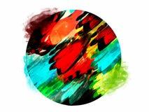 Kleurrijke artistieke abstracte achtergrond Stock Foto