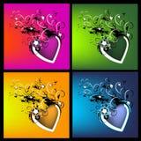 Kleurrijke artistieke achtergrond stock illustratie