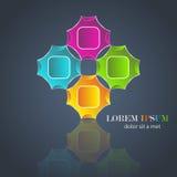 Kleurrijke artistieke ontwerp en achtergrond Stock Foto's