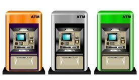 Kleurrijke ATMs Royalty-vrije Stock Foto's