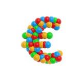 Kleurrijke atoomeuro Stock Fotografie