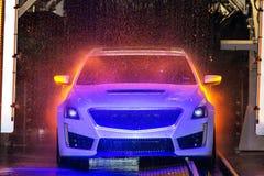 Kleurrijke Autowasserette Stock Fotografie