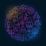 Kleurrijke baan en carrièreillustratie stock illustratie