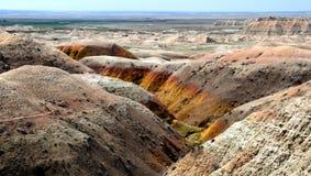 Kleurrijke Badlands Stock Afbeeldingen