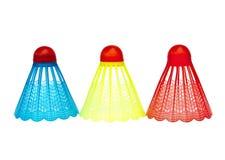 Kleurrijke badmintonshuttles royalty-vrije stock foto