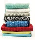 Kleurrijke badstofhanddoeken Royalty-vrije Stock Foto's