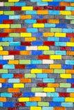 Kleurrijke baksteen Stock Afbeeldingen