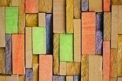 Kleurrijke Bakstenen muur Stock Afbeelding