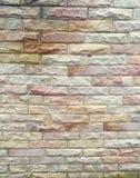 Kleurrijke bakstenen muur Stock Fotografie