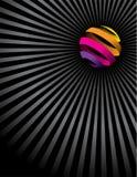 Kleurrijke bal en lijnen Stock Foto
