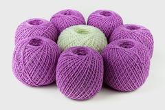 Kleurrijke bal van garen royalty-vrije stock foto