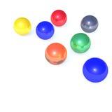kleurrijke ballen   stock illustratie