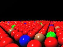 Kleurrijke ballen op zwarte achtergrond, diversiteit royalty-vrije illustratie