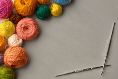 Kleurrijke Ballen van Garen Royalty-vrije Stock Afbeeldingen