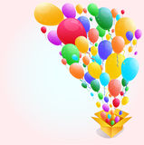 Kleurrijke Ballon Abstracte achtergrond Stock Fotografie