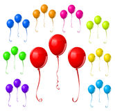 Kleurrijke Ballonreeks Royalty-vrije Stock Foto