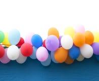 Kleurrijke ballons als achtergrond Stock Fotografie