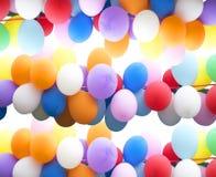 Kleurrijke ballons als achtergrond Royalty-vrije Stock Afbeelding