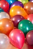 Kleurrijke ballons bij een partij Stock Foto