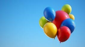 Kleurrijke Ballons met het Knippen van Weg Stock Afbeelding
