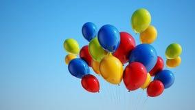 Kleurrijke Ballons met het Knippen van Weg Stock Afbeeldingen
