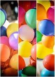 Kleurrijke ballons in panelen royalty-vrije stock fotografie