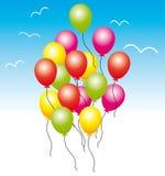 Kleurrijke Ballons Verjaardag of partij Stock Afbeelding
