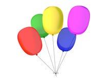 Kleurrijke baloons stock illustratie