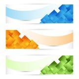 Kleurrijke Banner stock illustratie