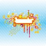 Kleurrijke banner Stock Afbeelding