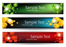 Kleurrijke banners Stock Foto's