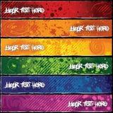 Kleurrijke Banners Stock Afbeelding