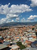 Kleurrijke barrio in Medellin Stock Fotografie