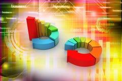 Kleurrijke bedrijfsgrafiek Stock Foto