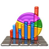 Kleurrijke BedrijfsGrafiek Royalty-vrije Stock Afbeelding
