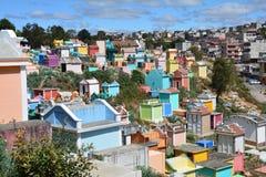 Kleurrijke Begraafplaats in Chichicastenango Guatemala stock foto's