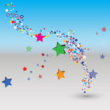 Kleurrijke bel als achtergrond Royalty-vrije Stock Foto