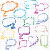Kleurrijke bellen voor toespraak. vector illustratie