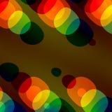 Kleurrijke bellenachtergrond Abstract Ontwerp voor van het de Dekkingstijdschrift van de Vliegerbrochure van de het Webaffiche va Stock Afbeelding