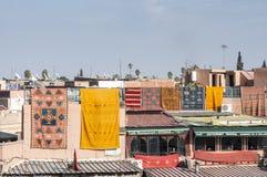 Kleurrijke berbertapijten Stock Afbeelding