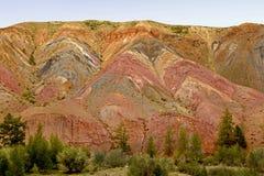 Kleurrijke bergen van Altai Siberisch berglandschap Rusland Royalty-vrije Stock Afbeelding