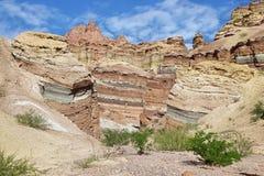 Kleurrijke bergen van Quebrada DE las Conchas, Argentinië Royalty-vrije Stock Foto's
