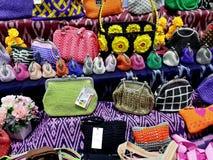 Kleurrijke beurzen en kleine zakken Stock Afbeelding