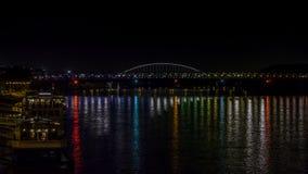 Kleurrijke bezinning in de rivier Royalty-vrije Stock Fotografie